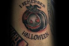 I remember Halloween tattoo