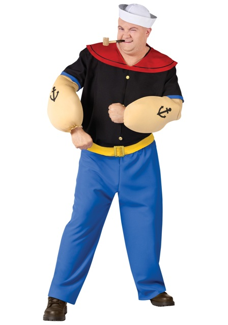 Popeye the sailor man outfit