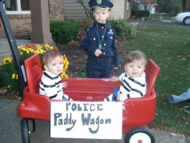 Twin robbers costumes