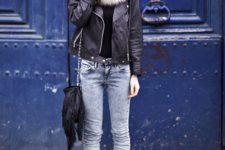 leather jacket fall look