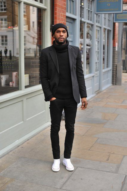 20 Men Outfits With Turtleneck Sweaters For Fall And ...