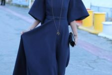 gorgeous blue dress outfit with a beret