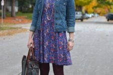 denim jacket outfit for fall
