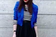blue blazer look