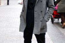 tweed coat look