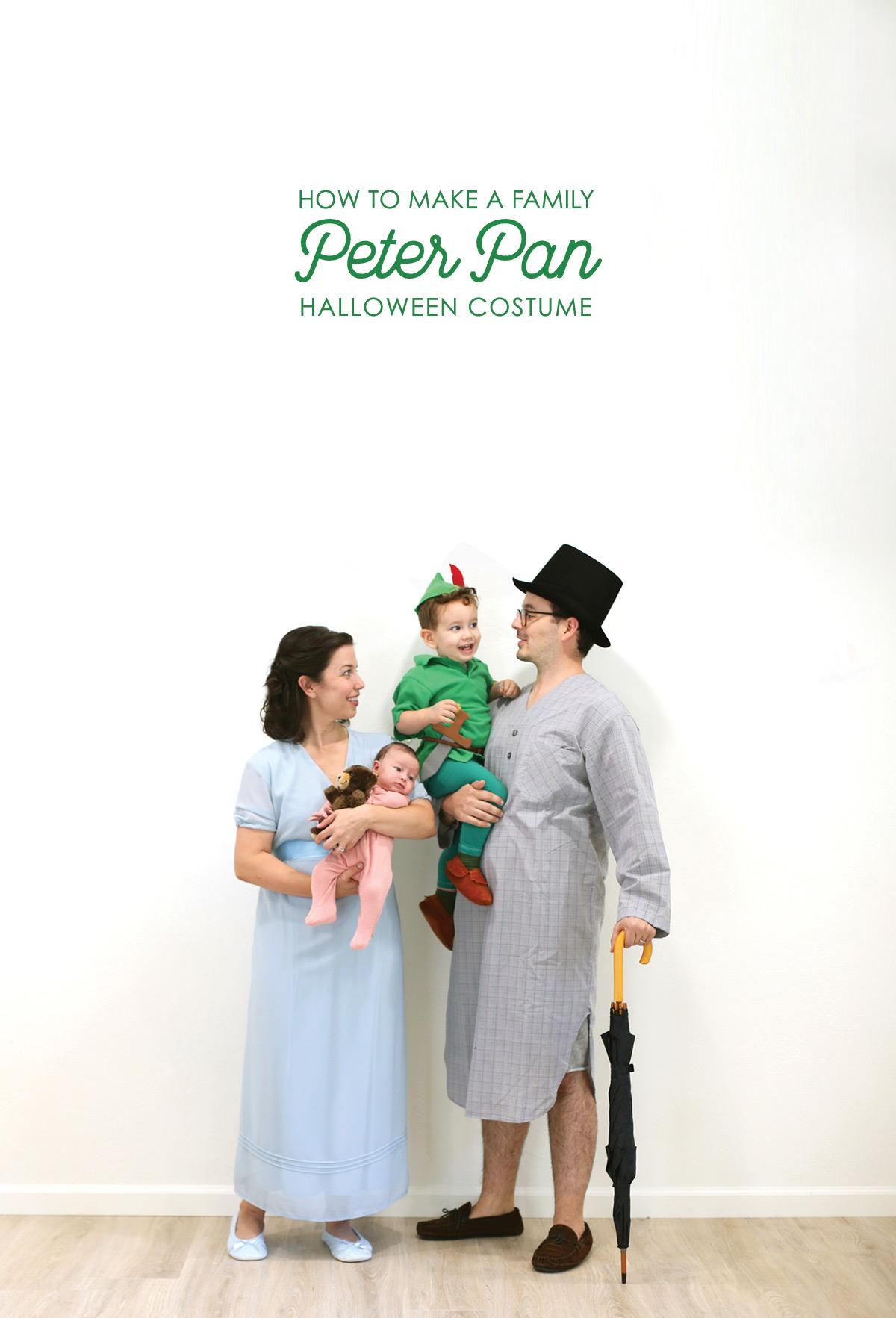 DIY Peter Pan characters' costumes