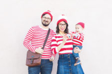 DIY Wheres Waldo family costume