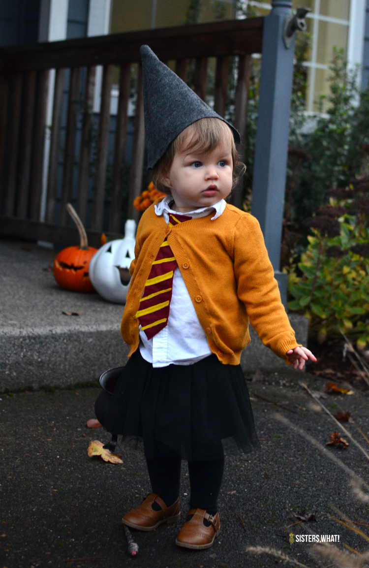 DIY Hermione toddler costume (via www.sisterswhat.com)