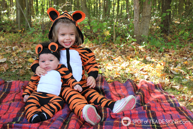 DIY tiger costume (via spotofteadesigns.com)