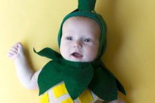 DIY pineapple Halloween costume