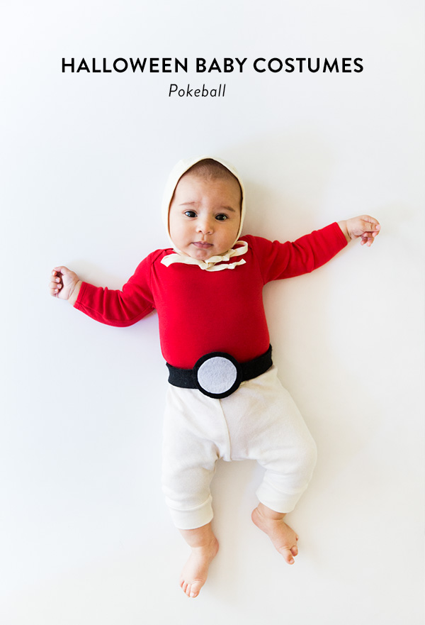 DIY pokeball Halloween costume (via sayyes.com)