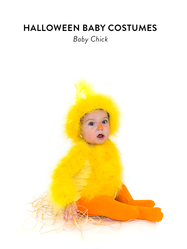 DIY baby chick Halloween costume (via sayyes.com)