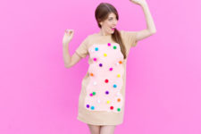 DIY toaster pastry costume