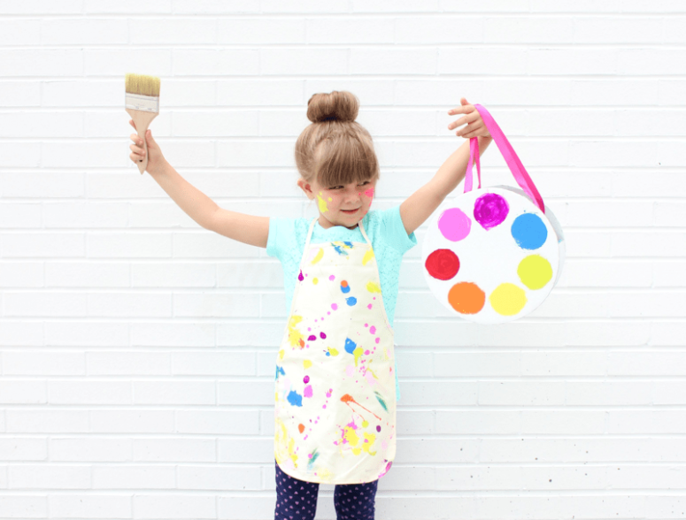 DIY little artist costume (via www.linesacross.com)