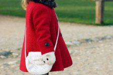 02 a bold red coat is classics, perfect for winter and will raise up the mood of your girl