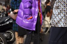 04 a bold purple oversized purple puffer jacket to catch everybody's eye