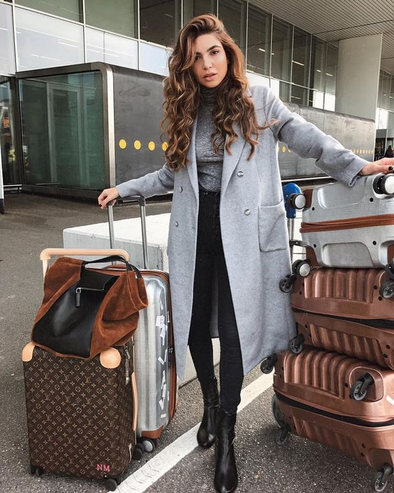 impressive airport outfit ideas winter