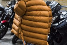 08 an oversized mustard puffer coat is a hot idea to rock in the fall