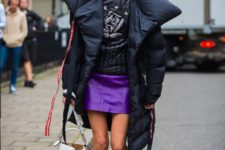11 a black blanket style puffer coat for a trendy winter look