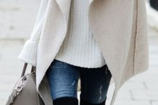 layered cozy fall look