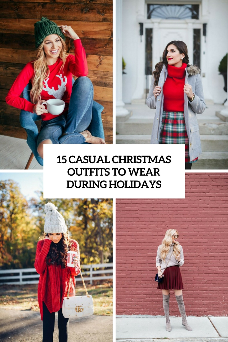 15 Casual Christmas Outfits To Wear During Holidays - Styleoholic