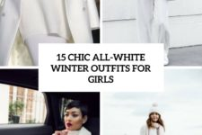15 chic all-white winter oufits for girls cover