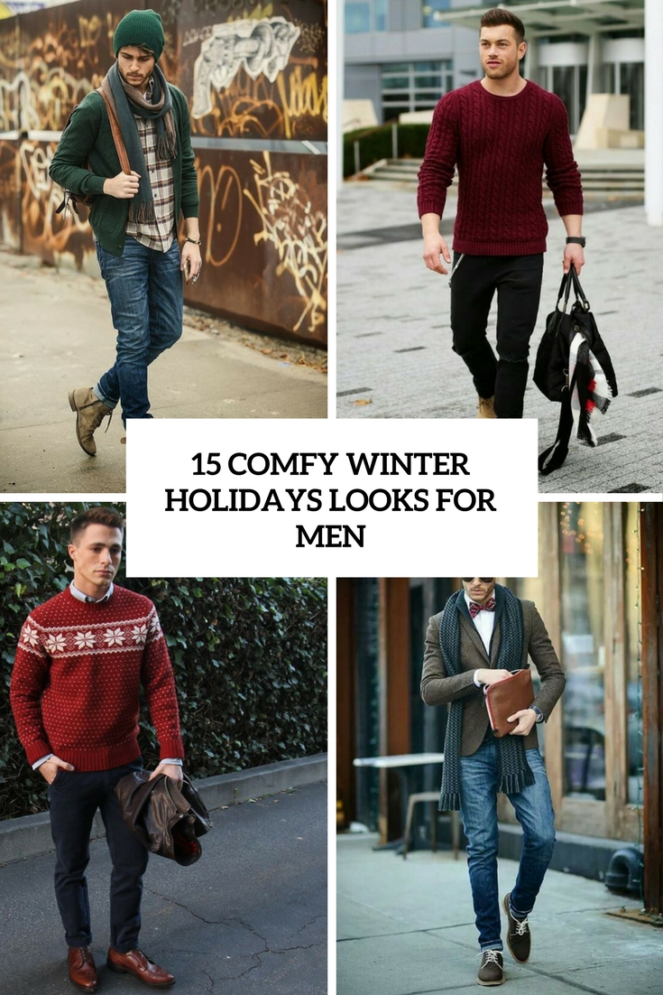 15 Comfy Winter Holidays Looks For Men