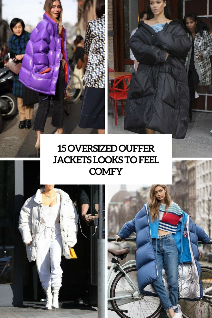 oversized puffer jacket looks to feel comfy cover