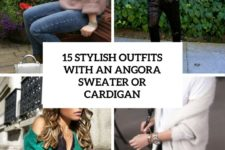 15 stylish outfits with an angora sweater or cardigan cover