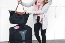 stylish travel look