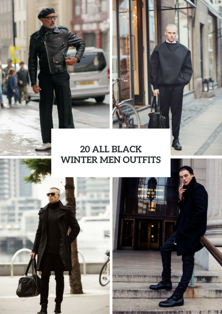 20 All Black Men Outfits For This Winter