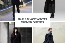 20 All Black Winter Women Outfits To Try