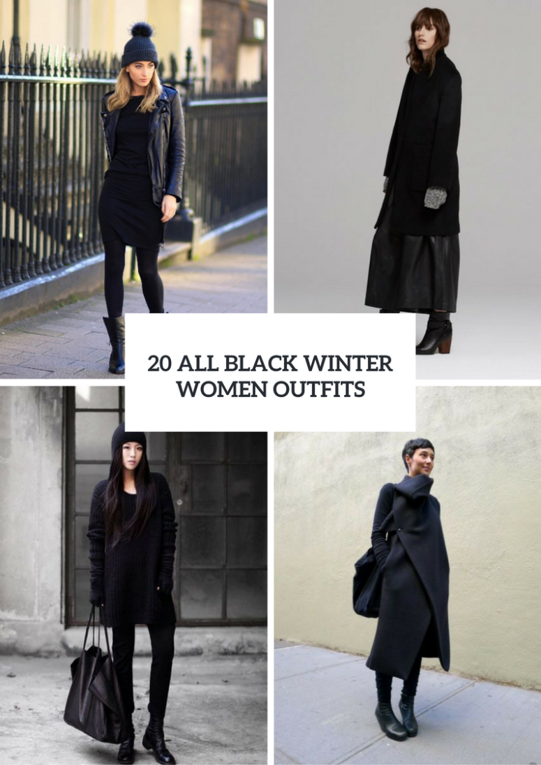 20 All-Black Winter Women Outfits To Try