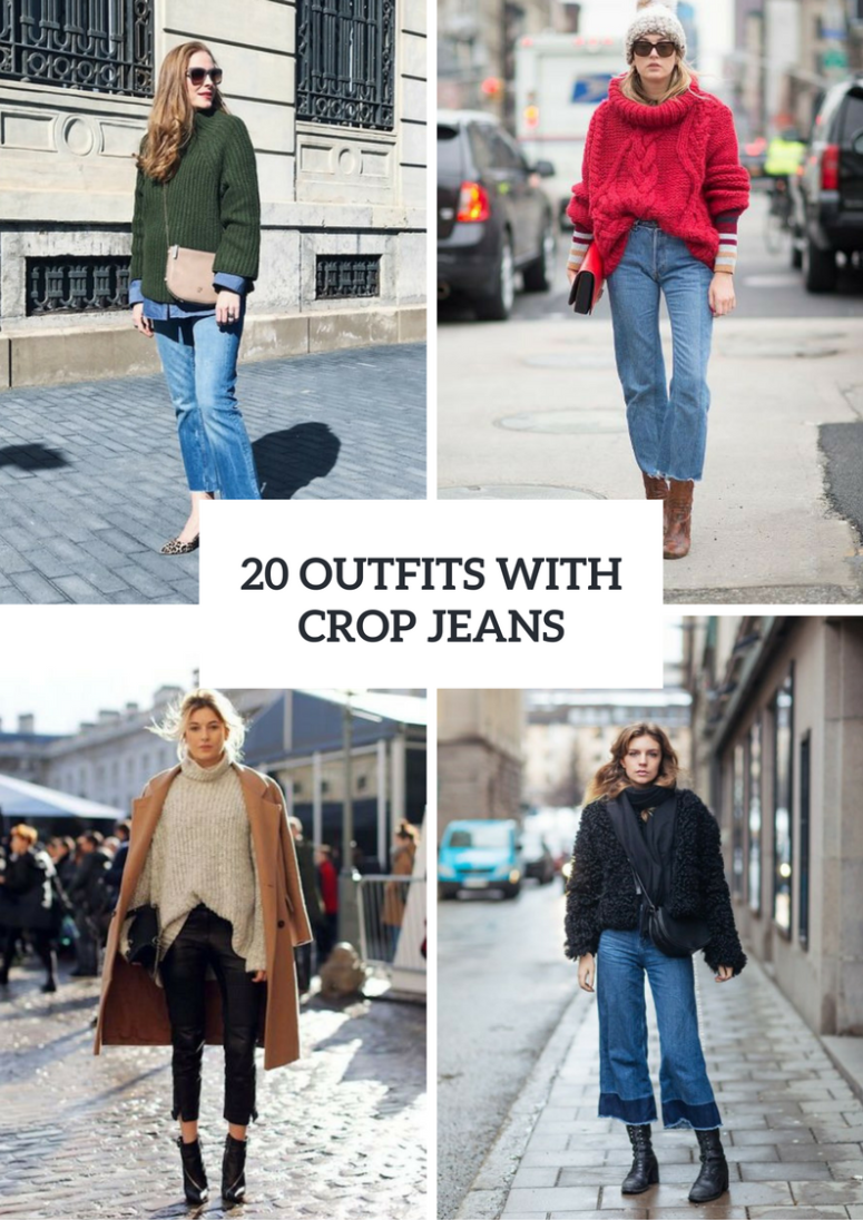 20 Cool Winter Outfits With Crop Jeans