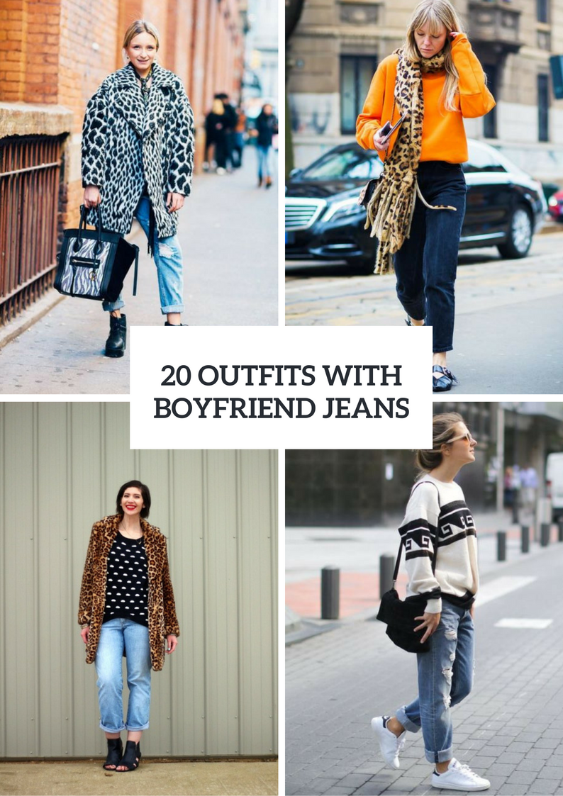 Fall And Winter Outfits With Boyfriend Jeans