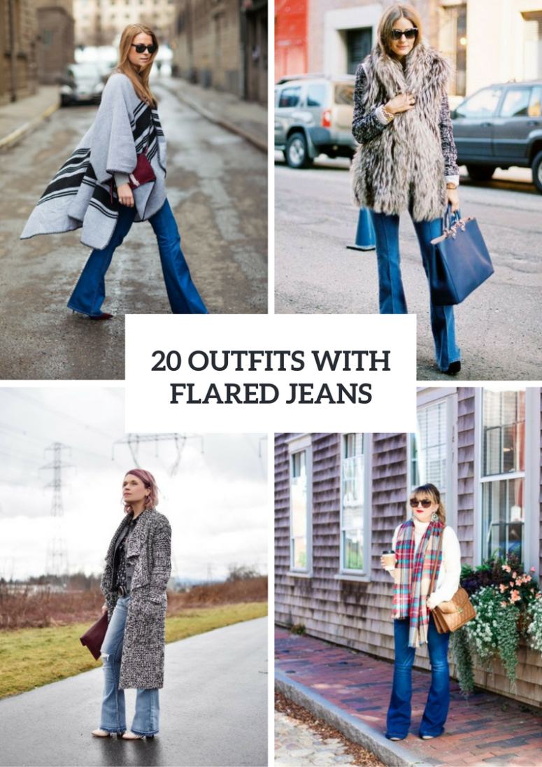 20 Fall And Winter Outfits With Flared Jeans To Try