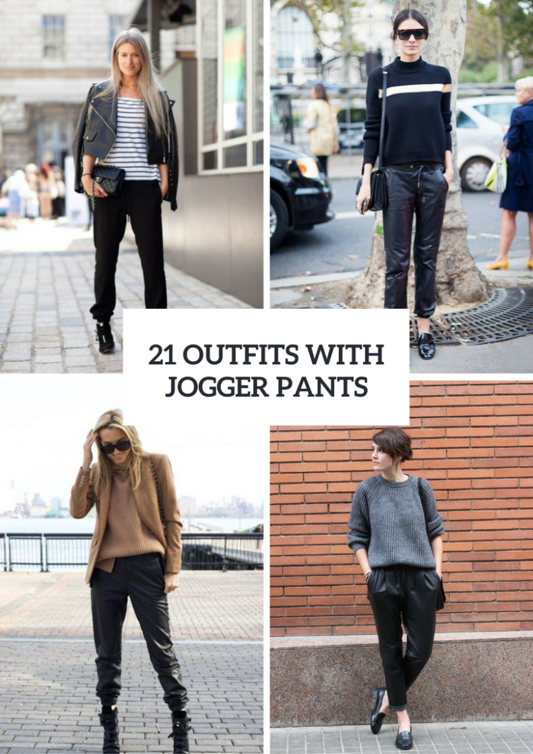 21 Women Outfits With Jogger Pants