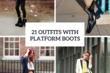 21 Women Outfits With Platform Boots For Fall And Winter