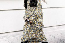 With floral midi dress