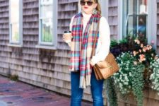 stylish turtleneck sweater outfit for fall