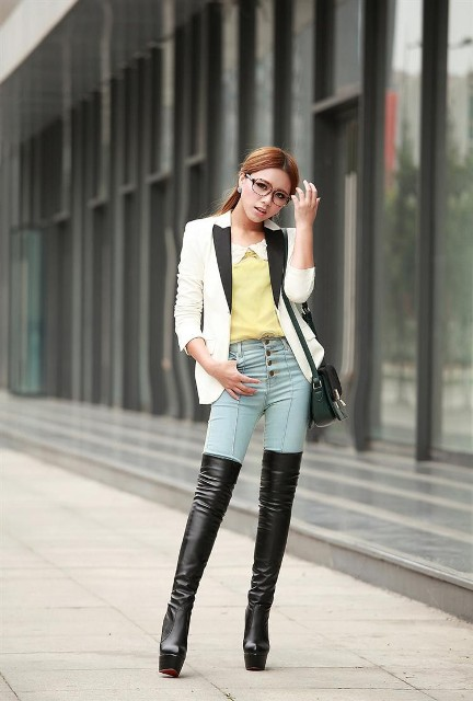 2735e063afa 21 Women Outfits With Platform Boots For Fall And Winter - Styleoholic