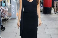 black slip dress for a party