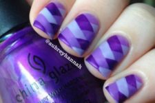 02 a chic white, lavender and violet geometric nail art  geometry is one of the current trends