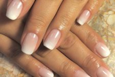 02 elegant ombre French nails are a chic and fresh take on a usual French mani