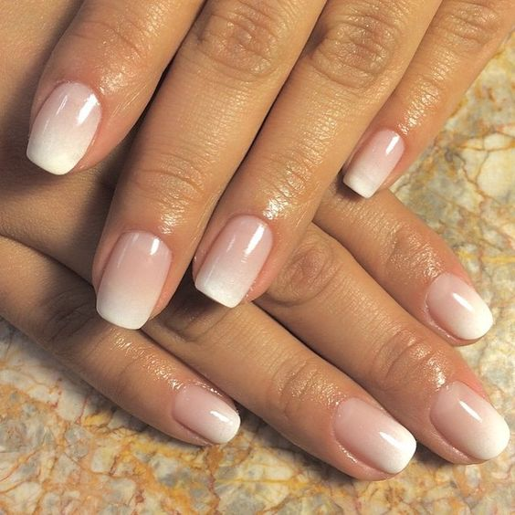 elegant ombre French nails are a chic and fresh take on a usual French mani