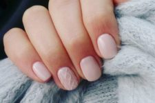 neutral nails winter manicure