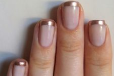 05 go for copper instead of white to make your French nails cooler