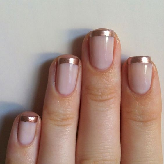 go for copper instead of white to make your French nails cooler