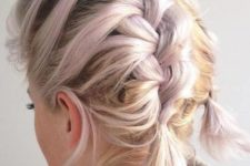 05 pastel hair with braids on top looks cute and trendy