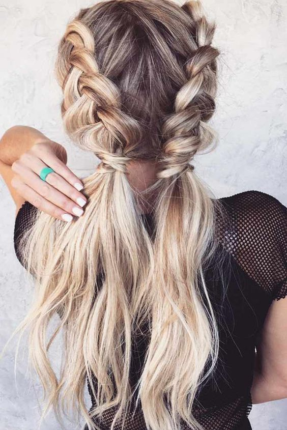 Artful braided blonde vs simple pinned foxy 8